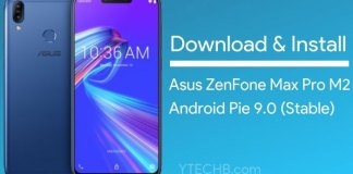 Download Asus ZenFone Max Pro M2 Android Pie Update