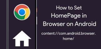 set homepage in browser