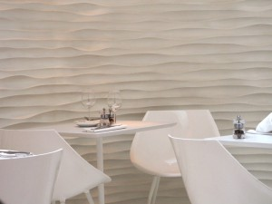 White texture walls and furniture at Olivomare