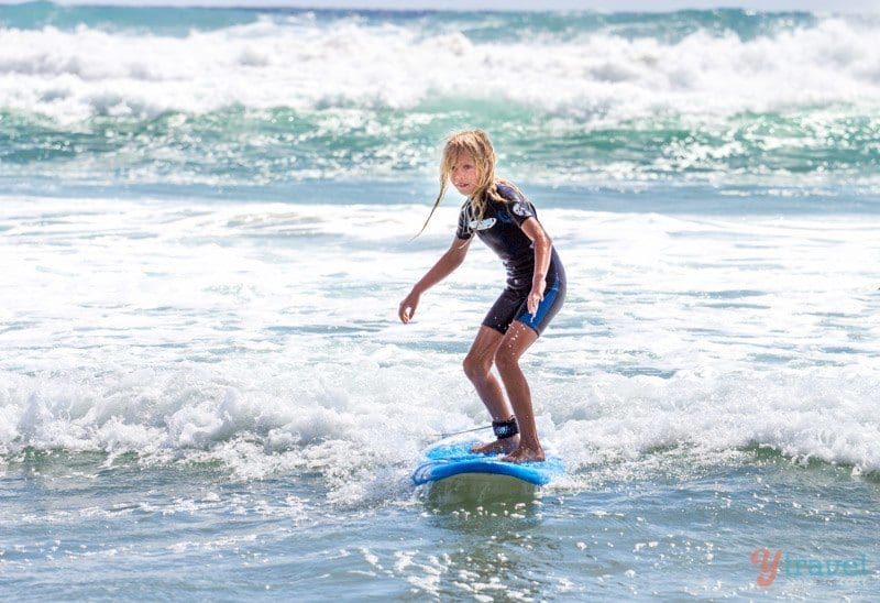 Learning to surf on the Gold Coast