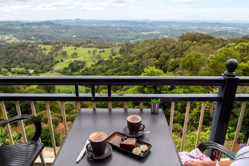 Beautiful views of the Sunshine Coast Hinterland from Montville