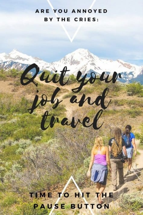 quit your job and travel