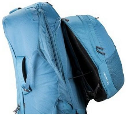 Zip off day pack. Image of Osprey 55L on Amazon