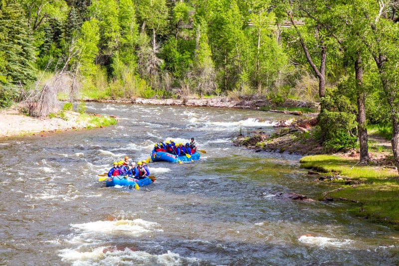 white water rafting Roaring Forks River, Snowmass, Colorado