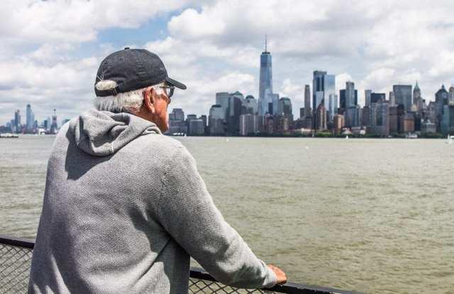 Liberty Island views of Manhattan