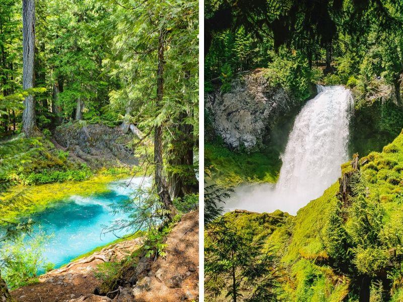 Koosah and Sahalie Falls. McKenzie River Trail