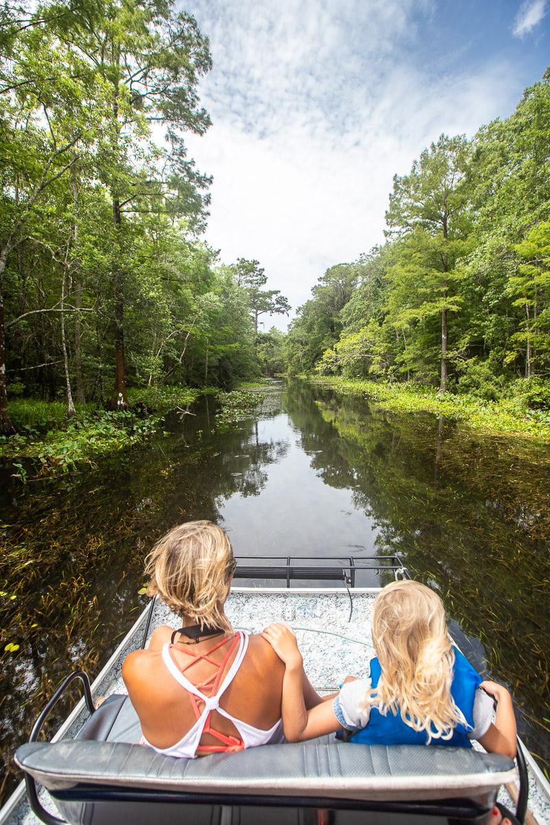 Airboat the Wacissa River, Monticello, Florida