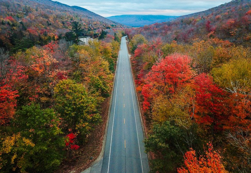 Kancamagus Highway scenic drive New England