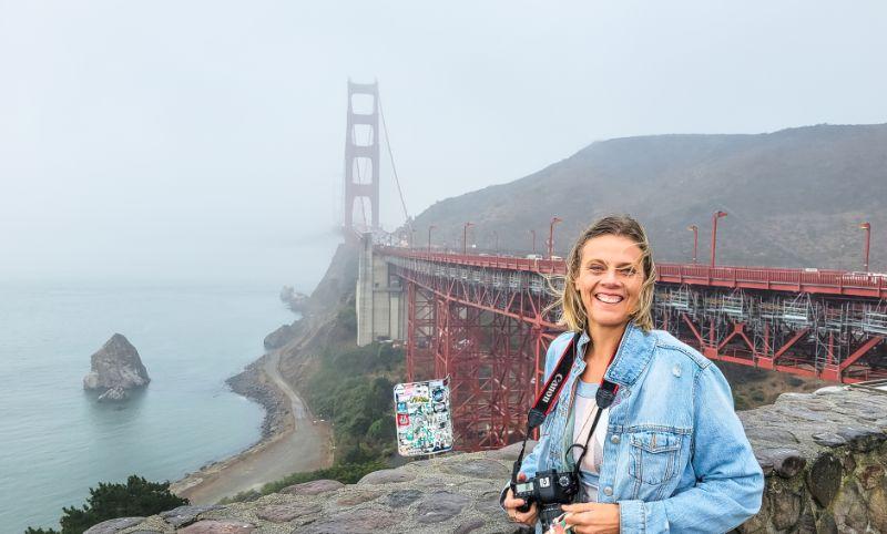 Golden Gate Bridge View Vista Point san francisco