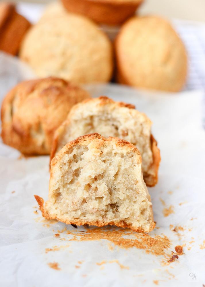 Muffins de plátano y queso en crema