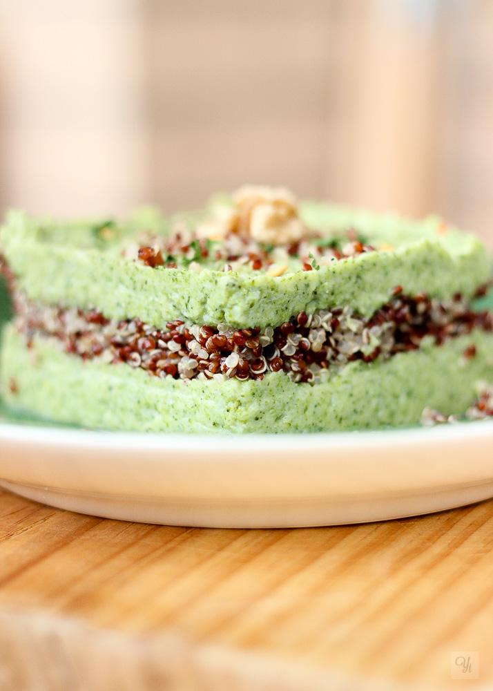Quinoa y crema de brócoli