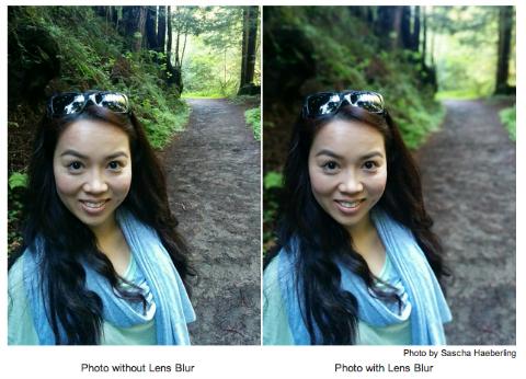 google camera lens blur