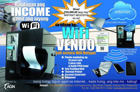 Wi-Fi vending machine, a self-service internet hotspot
