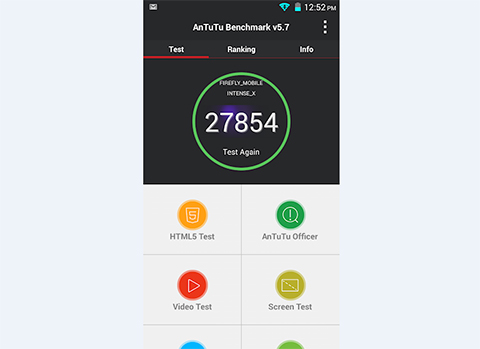 They also released a benchmark score of the Intense X using AnTuTu.