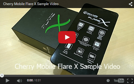 cm flare x sample video