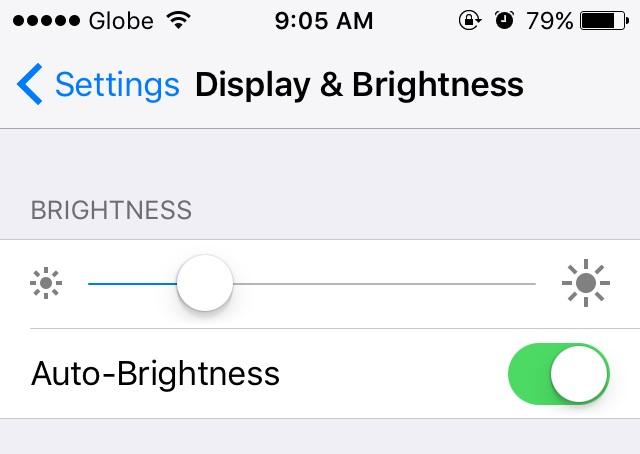 ios 9 brightness