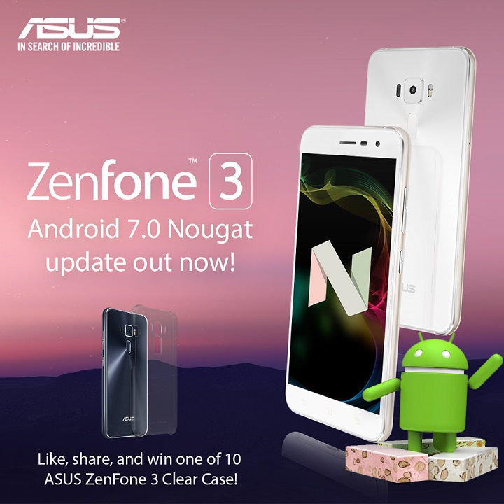 Android 7 0 Nougat now available for ASUS Zenfone 3