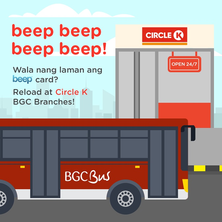Beep cards can now be reloaded at Circle K BGC branches