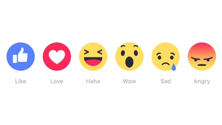Facebook Reactions now also available for post comments