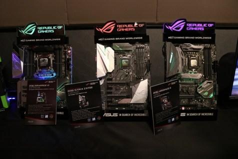 Asus ROG Masters press con Z370 motherboards