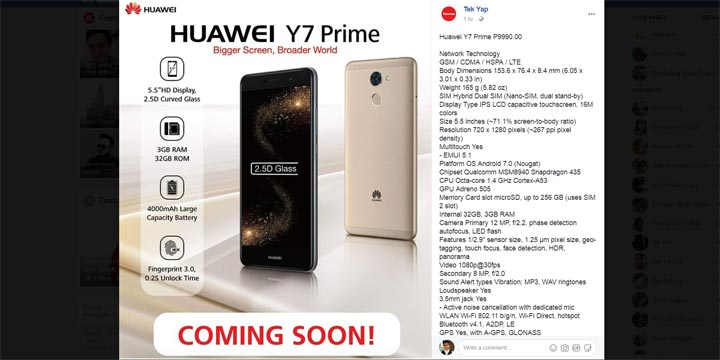 Huawei Y7 Prime lands in the Philippines, priced - YugaTech