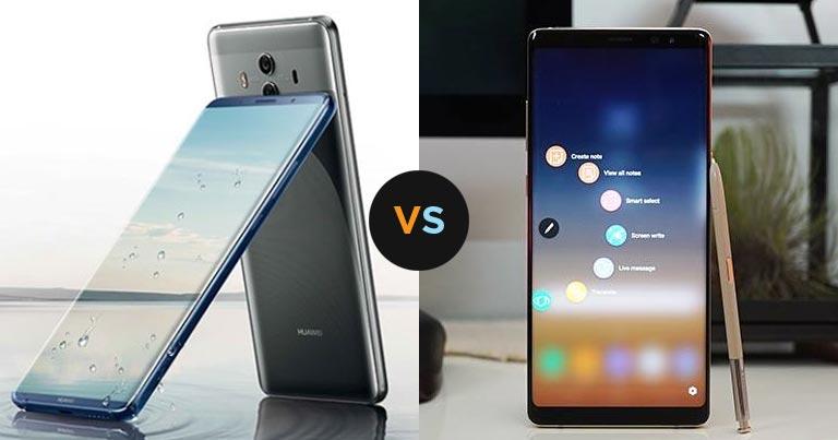 huawei 10 pro price. specs comparison: huawei mate 10 pro vs samsung galaxy note8 price