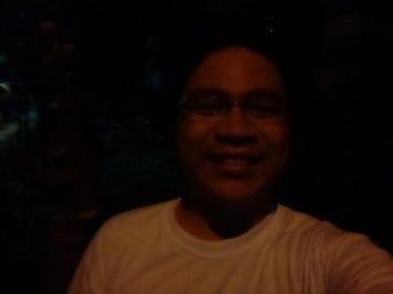 Low-light selfie (Orange lighting)
