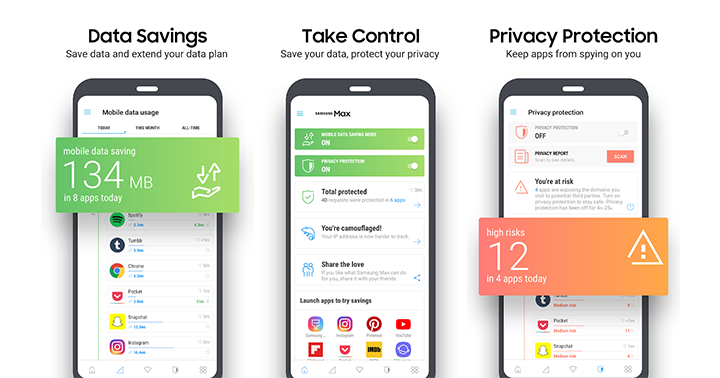 Samsung launches Samsung Max to save mobile data and enhance privacy