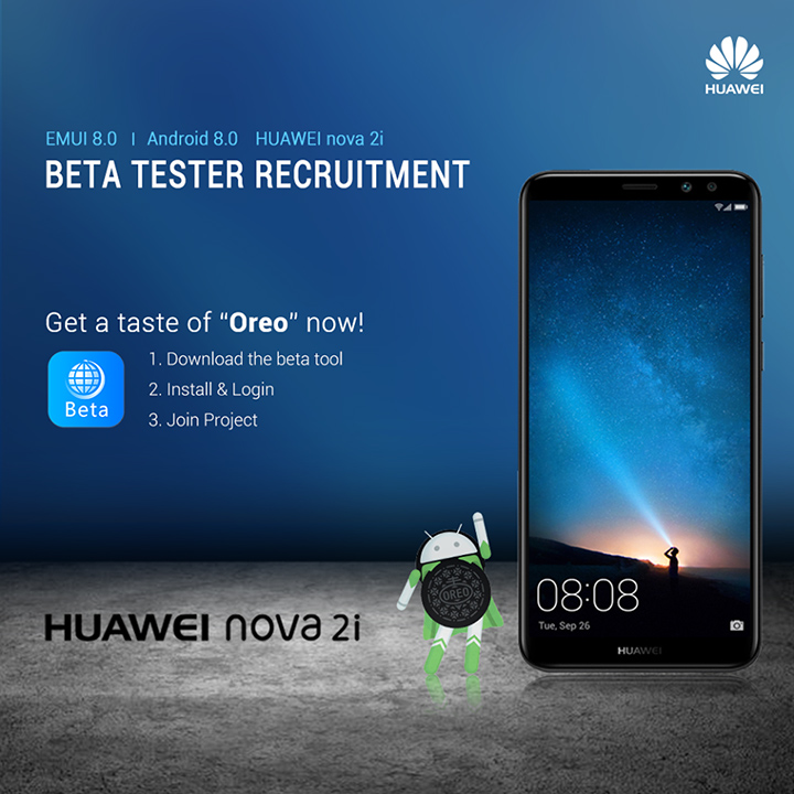 Beta version of Android Oreo for Huawei Nova 2i now