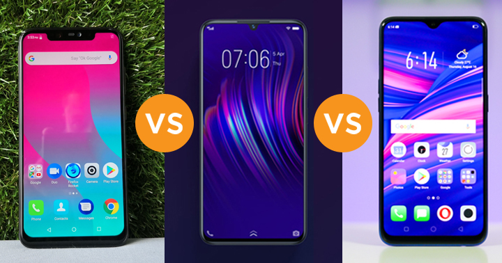 Cherry Mobile Flare S7 Plus vs VIVO V11i vs OPPO F9 specs