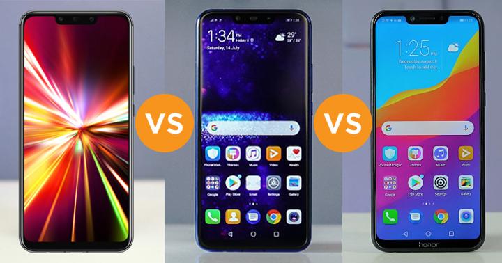 Huawei Mate 20 Lite vs Huawei Nova 3i vs Honor Play specs