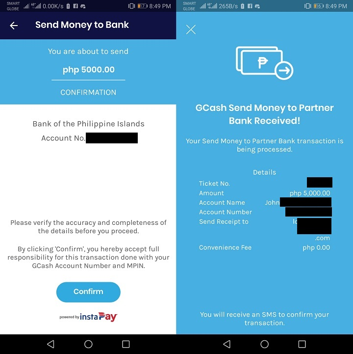 How to transfer funds from one bank to another with GCash - YugaTech