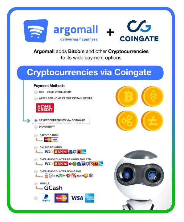 Argomall now accepts cryptocurrencies as payment - YugaTech