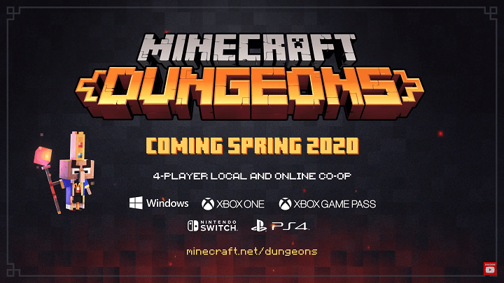 Minecraft Dungeons gameplay trailer revealed - YugaTech