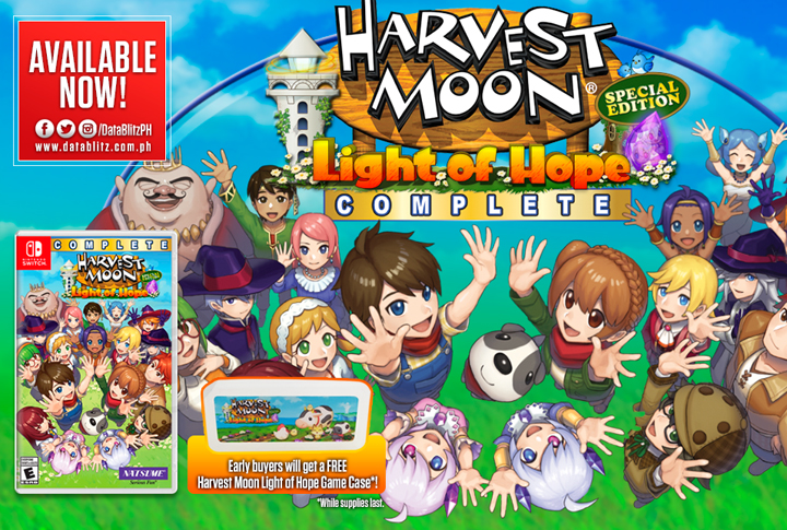 Harvest Moon: Light of Hope Complete for Nintendo Switch now