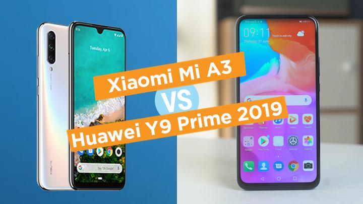 Xiaomi Mi A3 vs Huawei Y9 Prime 2019 specs comparison - YugaTech