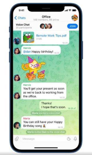 Telegram Voice Chat 1