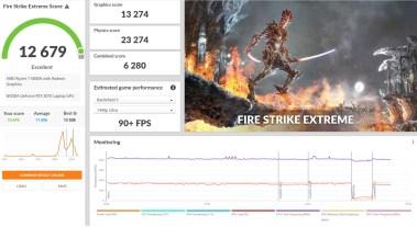 legion 5 pro 3d mark fire strike extreme