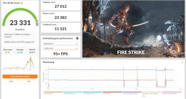 legion 5 pro 3d mark fire strike