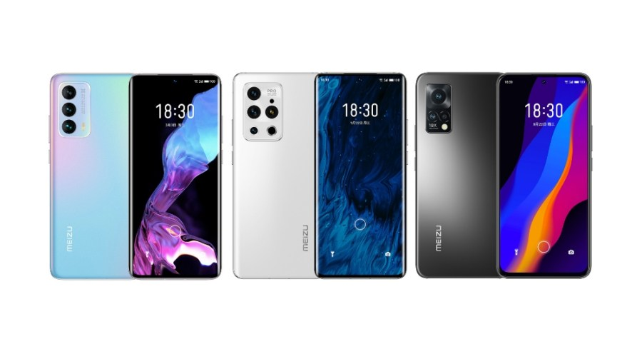 Meizu 18s, 18s Pro w/ SD888+, 18x w/ SD870 full specs, now official
