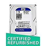 WD Blue 1TB SATA 6 Gb/s 7200 RPM 64MB Cache 3.5 Inch Desktop Hard Drive WD10EZEX (Certified Refurbished)
