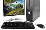 """Dell OptiPlex Desktop Complete Computer Package with Windows 10 Home – Keyboard, Mouse, 17\"""" LCD Monitor(brands may vary) (Certified Refurbished)"""