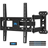 Mounting Dream Full Motion TV Wall Mount Bracket with Perfect Center Design for 26-55 Inch LED, LCD, OLED Flat Screen TV, Mount Bracket with Articulating Arm up to VESA 400x400mm, 60 lbs MD2377