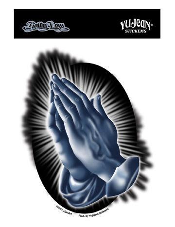 Praying Hands Sticker