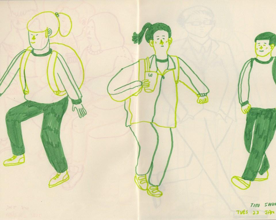 Hong Kong sketchbook drawings by Patrick Gildersleeves