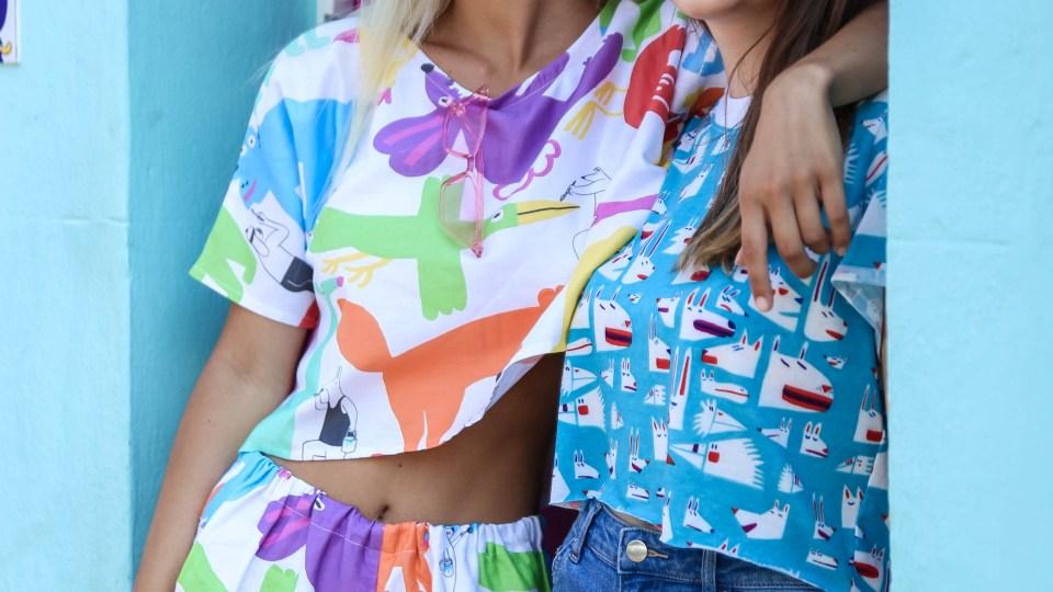 Cute girls wearing cute YUK FUN clothing