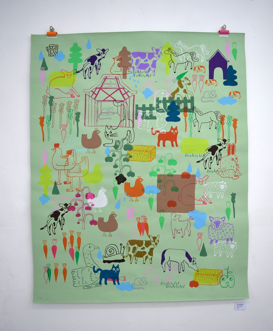 Eva Stalinski's (Farm) Animals screen print for Dream Safari