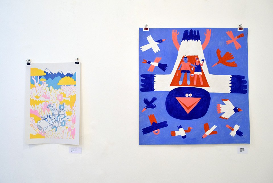 Dream Safari art and illustration exhibition work by YUK FUN