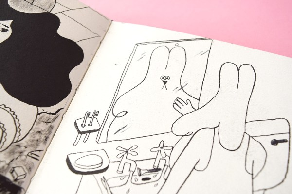 Detail photo of YUK FUN sketchbook