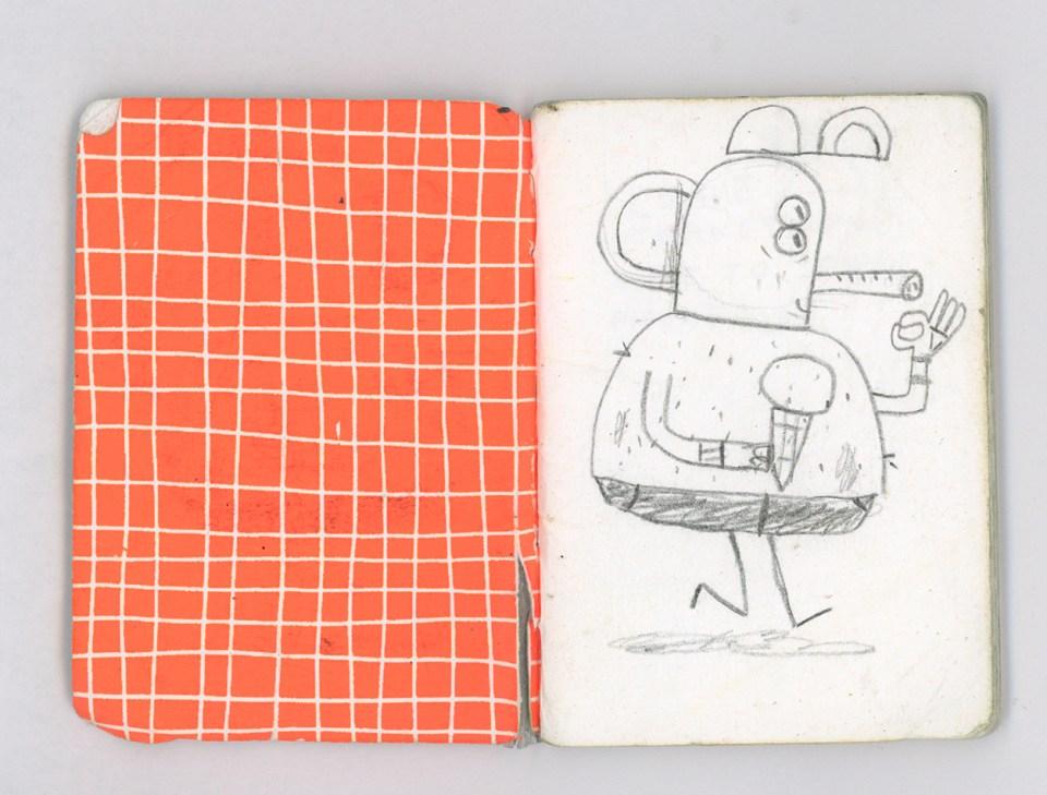 Alfonso de Anda sketchbook page